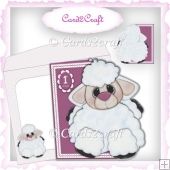Little lamb shaped cards set
