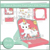 Magical Unicorns Easel Card With Drawer