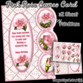 Pink Rose Cameo Card