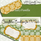 Snowflakes Envelope for C6 Cards