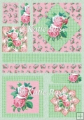 Country Flowers Pink Rose Diamonds Plus Card Sheet