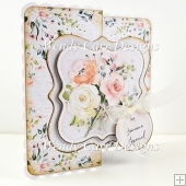 FLORAL CARD WITH SHAPE TOPPER