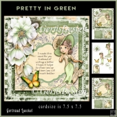 Pretty In Green Lady Topper Card Kit