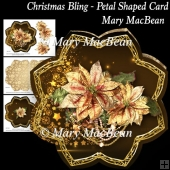 Christmas Bling - Petal Shaped Card