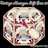 Vintage Car Hexagon Gift Box 23