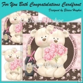 For You Both Congratulations Cardfront with Decoupage