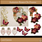 Autumn Roses On Frame