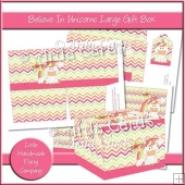 Believe In Unicorns Large Gift Box