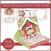 Season's Grrreetings Easel Card With Drawer