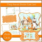 Party Animals Bracket Easel Card