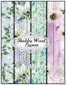 Shabby Wood Background Papers Set