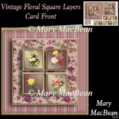 Vintage Floral Square Layers Card Front