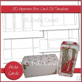 3D Aperture Box Card Template
