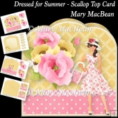 Dressed for Summer - Scallop Top Card