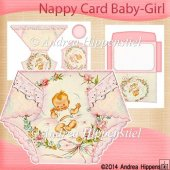Nappy Card Baby Girl