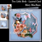 Two Little Birds - Layered Card