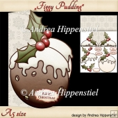 Figgy Pudding Shape Card A5