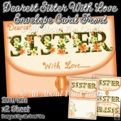Dearest Sister With Love Envelope Card Front