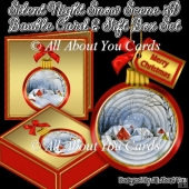Silent Night 3D Bauble Tree Ornament With Gift Box & Card
