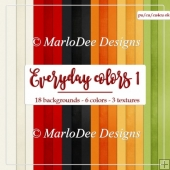 Everyday Colors 1 A4 size Cardstock Digital Papers Package
