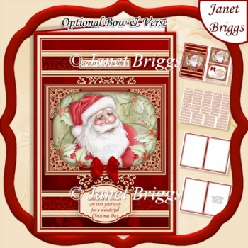A5 RED & GOLD CHRISTMAS SANTA Quick Layer Card Kit