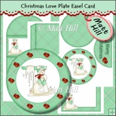 Christmas Love Plate Easel Card