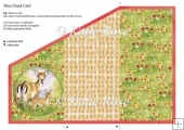 Tri Fold Meadows Edge Day Care Deer Three Panel Card