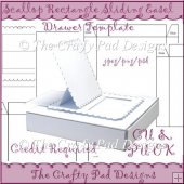 Scallop Retangle Sliding Easel Drawer Template