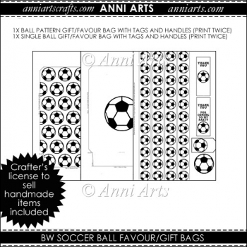 BW Soccer Gift / Favour bags