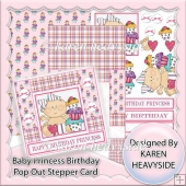 Happy Birthday Princess Pop Out Stepper Card