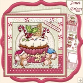 CHRISTMAS CUPCAKE MICE 7.5 Decoupage & Insert Kit
