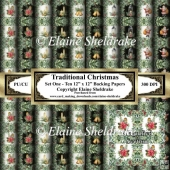 Traditional Christmas - Set One - Ten Sheets Of 12 x 12 Papers
