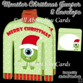 Monster Christmas Jumper Card & Envelope