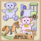 Baby Toys Clipart Collection