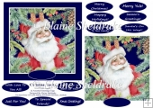 Christmas Santa 6 X 6 Card Topper & Assorted Greetings
