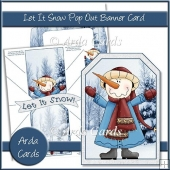 Let It Snow Pop Out Banner Card