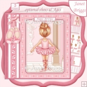 LITTLE BALLERINA 7.5 Decoupage & Insert Kit