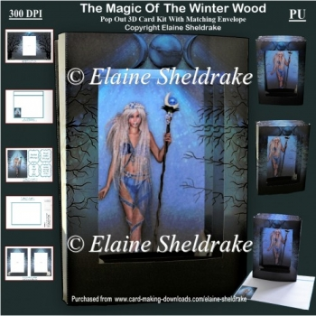 The Magic Of Yule In The Winter Solstice Wood 3D Pop Out Card