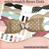 mix and match bows dots