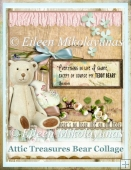 Attic Treasures Bear Collage for Cards, Journals, Crafts