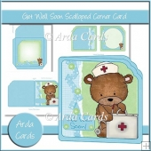 Get Well Soon Scalloped Corner Card