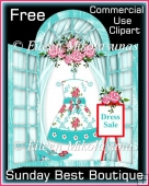 FREE Sunday Best CU Designer Resource Boutique Window Clipart