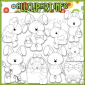 Bobby Bunny Loves Easter Commercial Use Digital Stamps