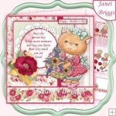 FLOWER BASKET KITTY 7.5 Decoupage & Insert Kit Various Occasions