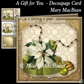 A Gift for You Decoupage Card