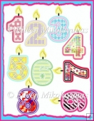 Commercial Use Birthday Number Candle Clipart