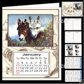 Little Donkey Calendar Book