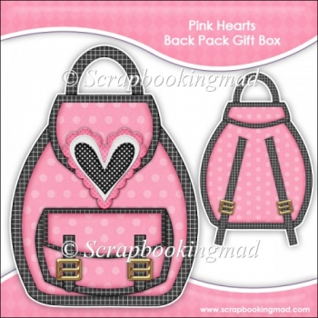 Pink Hearts Backpack Gift Box