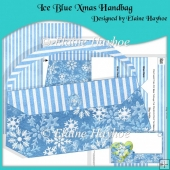 Ice Blue Xmas Handbag
