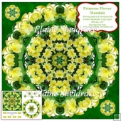 Primrose Flower Mandala Card Topper